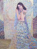 Zasněná, 2002, 100x81 cm, Olej, zlato