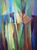 Vertikály života, 1993,75x81 cm,Olej