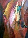 Rej klaunů, 1994, 69x44 cm, Olej