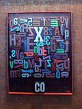 Co,1998, 73x57 cm, Litery